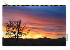 Carry-all Pouch featuring the photograph High Desert Sunset by Kevin Desrosiers