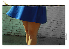 High Heels And A Blue Skirt Carry-all Pouch