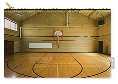High School Basketball Court And Head Carry-all Pouch