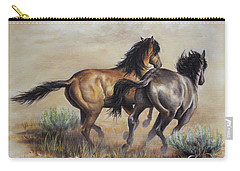 Carry-all Pouch featuring the painting High Tailin' It by Kim Lockman