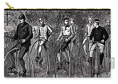 High Wheeled Victorian Bicyclers Carry-all Pouch by Peter Gumaer Ogden
