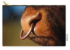 Carry-all Pouch featuring the photograph Highland Bull by Gavin Macrae