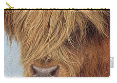 Highland Cow Painting Carry-all Pouch by Rachel Stribbling