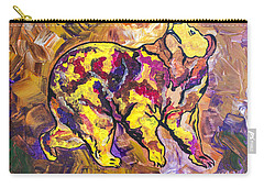 Carry-all Pouch featuring the painting Highland's North Carolina Bear by Janice Rae Pariza