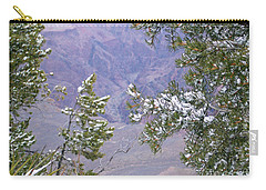 Carry-all Pouch featuring the photograph Highlighting Snow by Roberta Byram