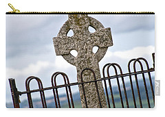 Hill Of Tara Celtic Cross Carry-all Pouch