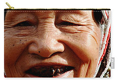 Carry-all Pouch featuring the photograph Hill Tribe Smile by Nola Lee Kelsey