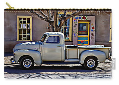 Carry-all Pouch featuring the painting Hillsboro New Mexico 1949 Gmc 100 by Barbara Chichester