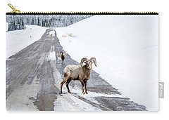 On The Road Again Big Horn Sheep  Carry-all Pouch