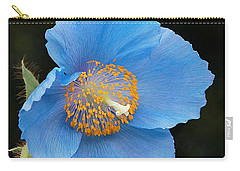 Himalayan Gift -- Meconopsis Poppy Carry-all Pouch by Byron Varvarigos