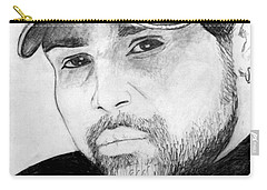 Carry-all Pouch featuring the painting Himesh Reshammiya by Salman Ravish