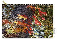 Hints Of Fall Carry-all Pouch by Linda Unger