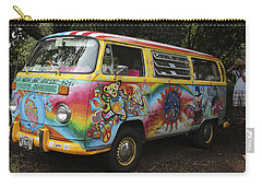 Vintage 1960's Vw Hippie Bus, Hawaii Carry-all Pouch