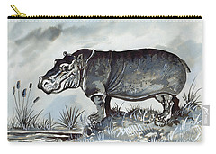 Hippo Carry-all Pouch by Anthony Mwangi