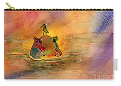 Hippo Birdie Carry-all Pouch by Amy Kirkpatrick