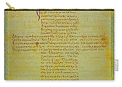 Hippocratic Oath On Vintage Parchment Paper Carry-all Pouch by Eti Reid