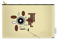 Carry-all Pouch featuring the digital art His First Flower by Ann Calvo