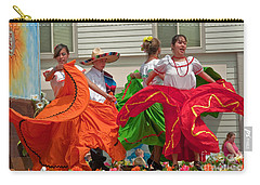 Hispanic Women Dancing In Colorful Skirts Art Prints Carry-all Pouch