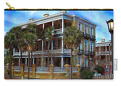 Historic Charleston Mansion Carry-all Pouch by Kathy Baccari