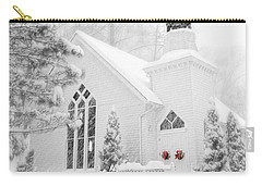 White Christmas In Oella Maryland Usa Carry-all Pouch