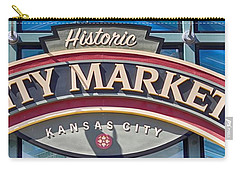 Historic City Market Sign  Carry-all Pouch by Liane Wright