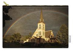 Historic Methodist Church In Rainbow Light Carry-all Pouch