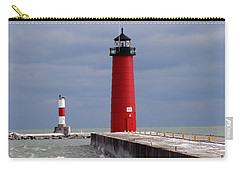 Carry-all Pouch featuring the photograph Historic Pierhead Lighthouse by Kay Novy