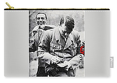 Hitler And Goebbels  As The German Chancellor Signs An Autograph  Carry-all Pouch