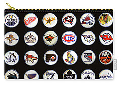 Hockey League Logos Bottle Caps Carry-all Pouch