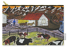 Carry-all Pouch featuring the painting Hog Heaven Farm by Jeffrey Koss