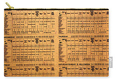Hogsmeade Station Timetable Carry-all Pouch by David Lee Thompson
