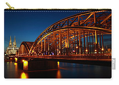 Carry-all Pouch featuring the photograph Hohenzollern Bridge by Mihai Andritoiu