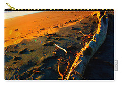 Carry-all Pouch featuring the photograph Hokitika Beach New Zealand by Amanda Stadther