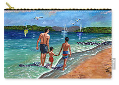 Carry-all Pouch featuring the painting Holding Hands by Laura Forde