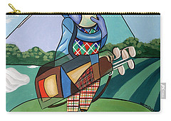 Carry-all Pouch featuring the painting Hole In One by Anthony Falbo