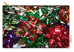 Carry-all Pouch featuring the photograph Holiday Bows by Denyse Duhaime