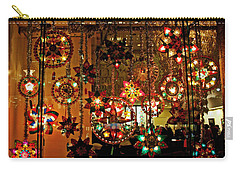 Carry-all Pouch featuring the photograph Holiday Lights by Suzanne Stout