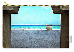 Hollywood Beach Arch Carry-all Pouch by Joan  Minchak