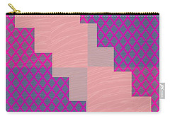 Carry-all Pouch featuring the photograph Holy Purple Diamond Pattern And Silken Light Crystal Across by Navin Joshi