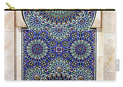 Holy Water Fountain Hassan II Mosque Sour Jdid Casablanca Morocco  Carry-all Pouch