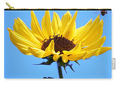 Carry-all Pouch featuring the photograph Honey Bee Heading In To Party by Belinda Lee