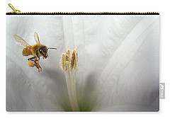 Honey Bee Up Close And Personal Carry-all Pouch