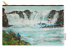 Honeymoon At Godafoss Carry-all Pouch by Alys Caviness-Gober