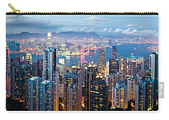 Hong Kong At Dusk Carry-all Pouch by Dave Bowman