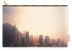 Hong Kong Harbour Sunset Carry-all Pouch by Pixel  Chimp
