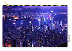 Hong Kong In Purple Carry-all Pouch