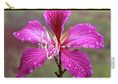 Hong Kong Orchid Tree Flower Carry-all Pouch by Venetia Featherstone-Witty