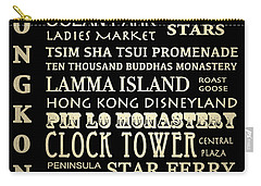 Hong Kong Famous Landmarks Carry-all Pouch