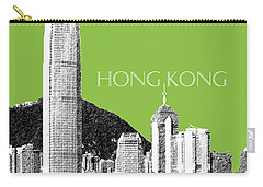 Hong Kong Skyline 1 - Olive Carry-all Pouch