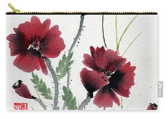 Carry-all Pouch featuring the painting Honor With Buddha Quote I by Bill Searle